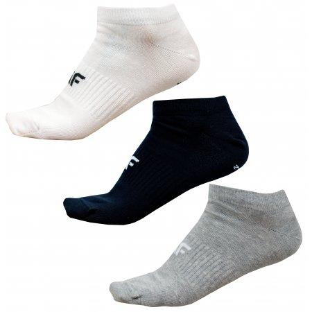 Pánské ponožky NOSD4-SOM301 GREY MELANGE/WHITE/DEEP BLACK