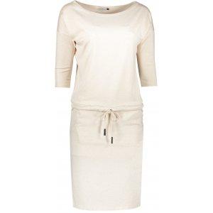 Dámské šaty NUMOCO A13-109 BÉŽOVÁ
