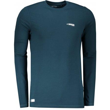 Pánské triko s dlouhým rukávem 4F D4L20-TSML200 TEAL