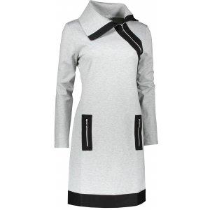 Dámské šaty NUMOCO A129-1 ŠEDÁ