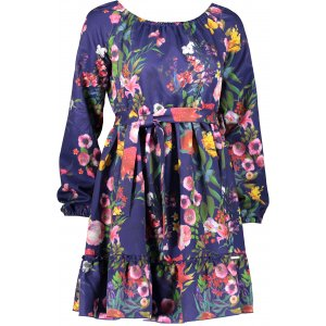 Dámské šaty NUMOCO DAISY A265-2 MODRÁ KVĚTY