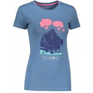 Dámské triko ALPINE PRO UNEGA 7 LTSR573 MODRÁ