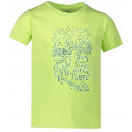Dětské triko ALPINE PRO MATTERO 2 KTSR239 SVĚTLE ZELENÁ