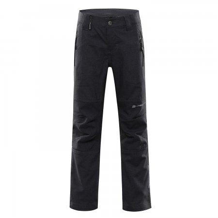 Dětské softshellové kalhoty ALPINE PRO PLATAN 4 KPAR158 ČERNÁ