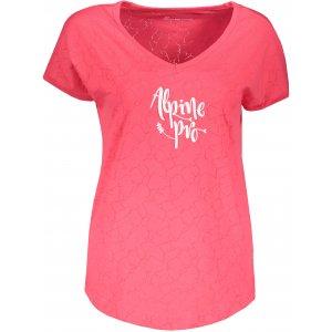 Dámské triko ALPINE PRO HARISA 3 LTSR575 RŮŽOVÁ