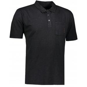 Pánské triko s límečkem ALPINE PRO ERIN MTSR521 ČERNÁ