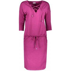 Dámské šaty NUMOCO JANET A230-1 TMAVĚ RŮŽOVÁ