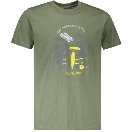 Pánské triko ALPINE PRO UNEG 8 MTSR458 ZELENÁ