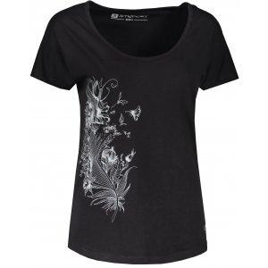 Dámské triko s krátkým rukávem ALTISPORT NORMA LTSR654 ČERNÁ