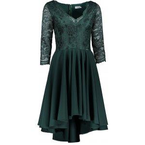 Dámské šaty NUMOCO NICOLLE A210-3 ZELENÁ KRAJKA