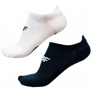 Dámské ponožky 4F D4L20-SOD210 WHITE/DEEP BLACK
