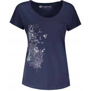 Dámské triko s krátkým rukávem ALTISPORT NORMA LTSR654 TMAVĚ MODRÁ