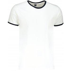 Pánské triko TEEJAYS RINGER TEE WHITE/NAVY