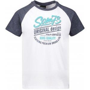Chlapecké triko s krátkým rukávem SAM 73 BT 539 BÍLÁ