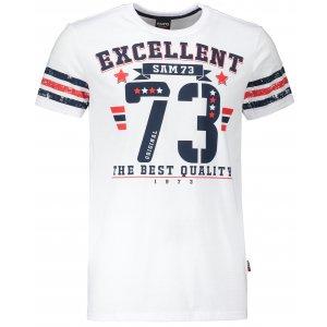 Pánské triko s krátkým rukávem SAM 73 MT 762 BÍLÁ
