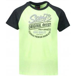 Chlapecké triko s krátkým rukávem SAM 73 BT 539 ŽLUTÁ NEON