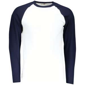 Pánské triko FRUIT OF THE LOOM BASEBALL T WHITE/DEEP NAVY