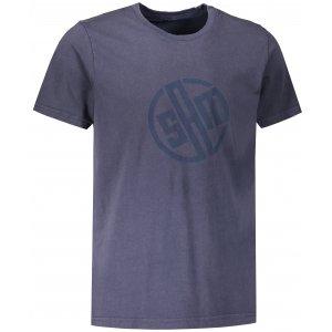 Pánské triko s krátkým rukávem SAM 73 ALIF MTSR487 TMAVĚ MODRÁ