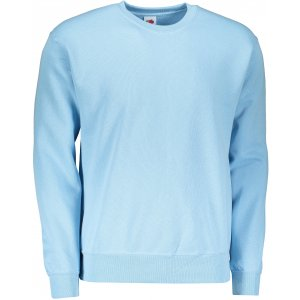 Pánská mikina FRUIT OF THE LOOM CLASSIC SET-IN SWEAT SKY BLUE