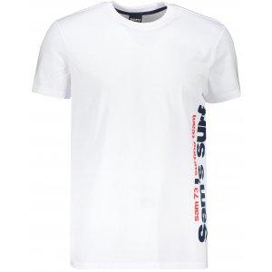 Pánské triko s krátkým rukávem SAM 73 MT 766 BÍLÁ