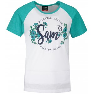 Dívčí triko s krátkým rukávem SAM 73 GT 540 ZELENÁ NEON
