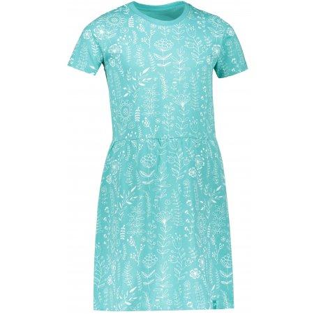 Dívčí šaty ALPINE PRO SARKO KSKR081 ZELENÁ