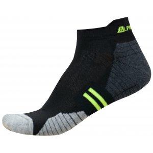 Ponožky ALPINE PRO DON USCR054 SVÍTIVĚ ZELENÁ