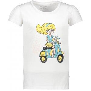 Dívčí triko s krátkým rukávem SAM 73 KTSR252 BÍLÁ