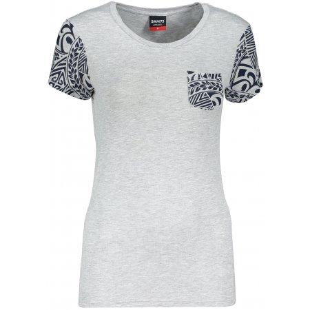 Dámské triko s krátkým rukávem SAM 73 WT 800 SVĚTLE ŠEDÁ