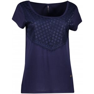 Dámské triko s krátkým rukávem KIXMI JASMINA TMAVĚ MODRÁ