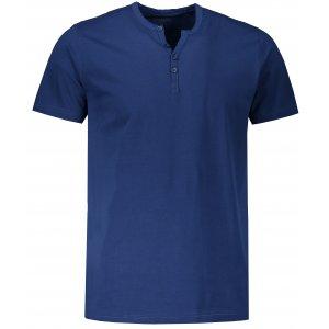 Pánské triko s krátkým rukávem SAM 73 MTSR523 TMAVĚ MODRÁ