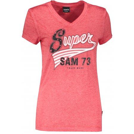 Dámské triko s krátkým rukávem SAM 73 WT 795 ČERVENÁ