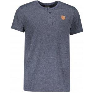 Pánské triko s krátkým rukávem SAM 73 MT 763 TMAVĚ MODRÁ