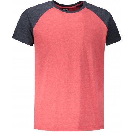 Pánské triko s krátkým rukávem SAM 73 MT 767 ČERVENÁ