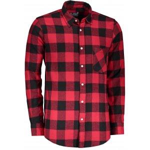 Pánská retro košile LONDOG BLACK/RED