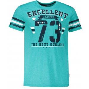 Pánské triko s krátkým rukávem SAM 73 MT 762 ZELENÁ NEON