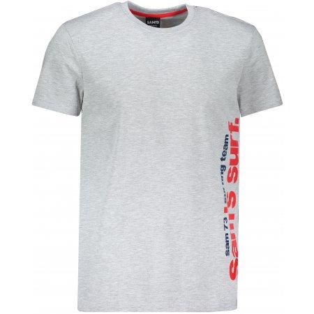 Pánské triko s krátkým rukávem SAM 73 MT 766 SVĚTLE ŠEDÁ