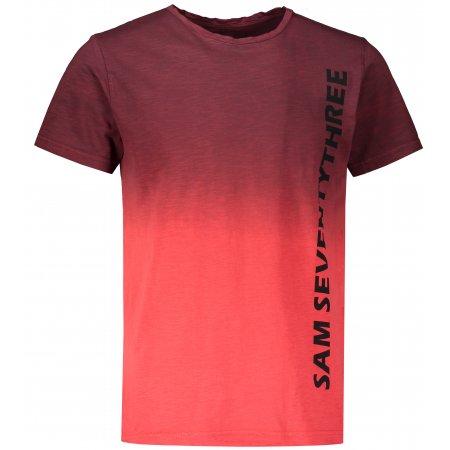 Pánské triko s krátkým rukávem SAM 73 MTSR542 TMAVĚ ČERVENÁ