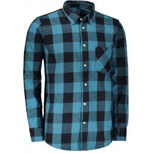 Pánská retro košile LONDOG STEEL BLUE/BLACK