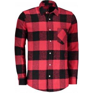 Pánská retro košile LONDOG RED/BLACK