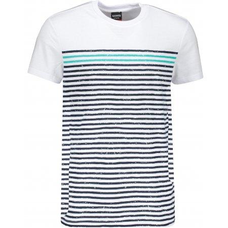 Pánské triko s krátkým rukávem SAM 73 MT 765 BÍLÁ