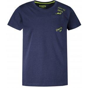 Chlapecké triko s krátkým rukávem SAM 73 KTSR257 TMAVĚ MODRÁ