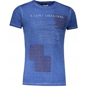 Pánské triko s krátkým rukávem KIXMI JAMMIE MODRÁ