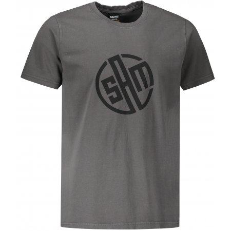 Pánské triko s krátkým rukávem SAM 73 ALIF MTSR487 TMAVĚ ŠEDÁ