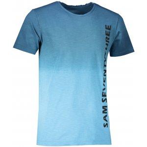 Pánské triko s krátkým rukávem SAM 73 MTSR542 TMAVĚ MODRÁ