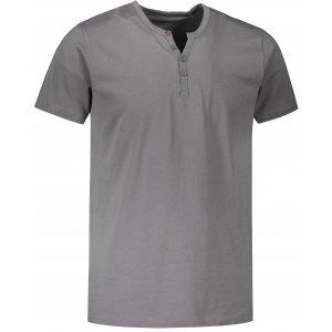 Pánské triko s krátkým rukávem SAM 73 MTSR523 ŠEDÁ