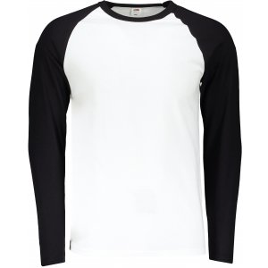 Pánské triko FRUIT OF THE LOOM BASEBALL T WHITE/BLACK