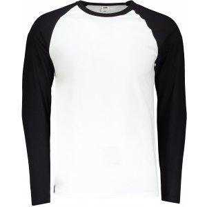 Pánské triko FRUIT OF THE LOOM BASEBALL T WHITE/BLACK