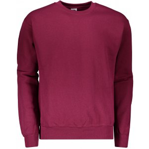Pánská mikina FRUIT OF THE LOOM CLASSIC SET-IN SWEAT BURGUNDY