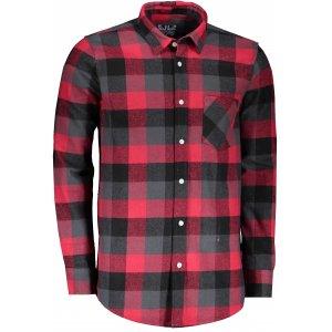 Pánská retro košile LONDOG RED/BLACK/GREY